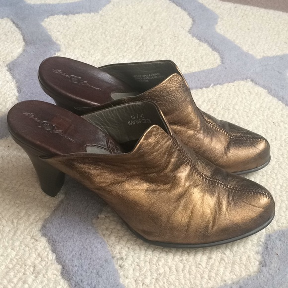 b823d258ccb5d0 Born Shoes - Børn Pinto Gold Leather Mules